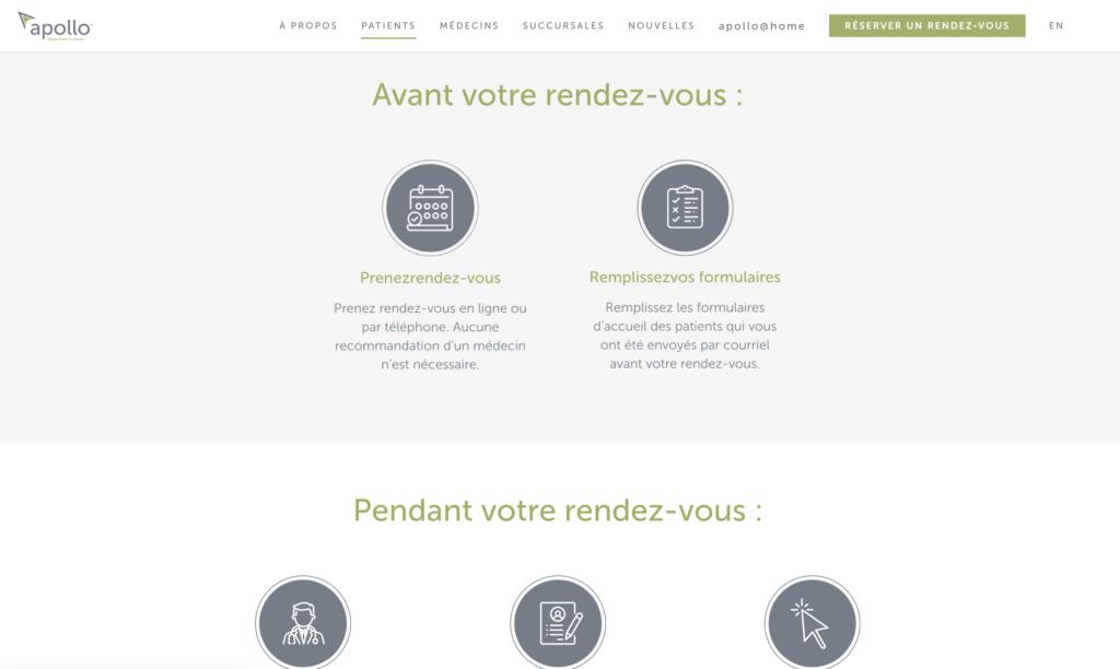 Bilingual website for Apollo Cannabis Clinics