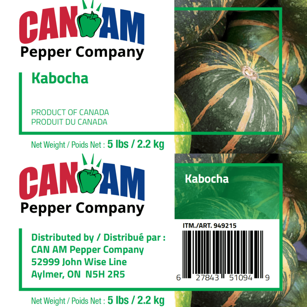 Packaging compliance for aariety of CANAM squash for distribution in Costco Canada