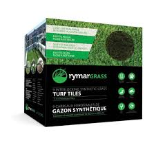Bilingual packaging for Rymar artificial grass tiles