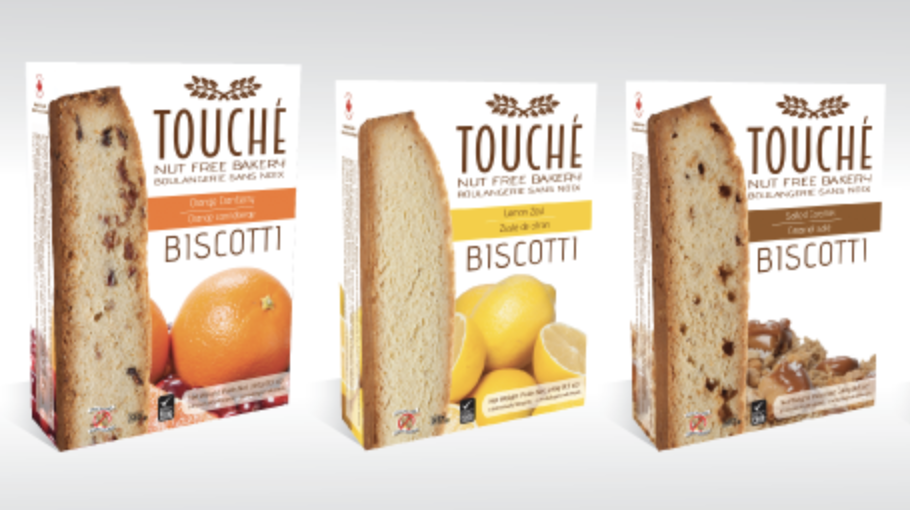 Bilingual biscotti packaging for the Canadian market