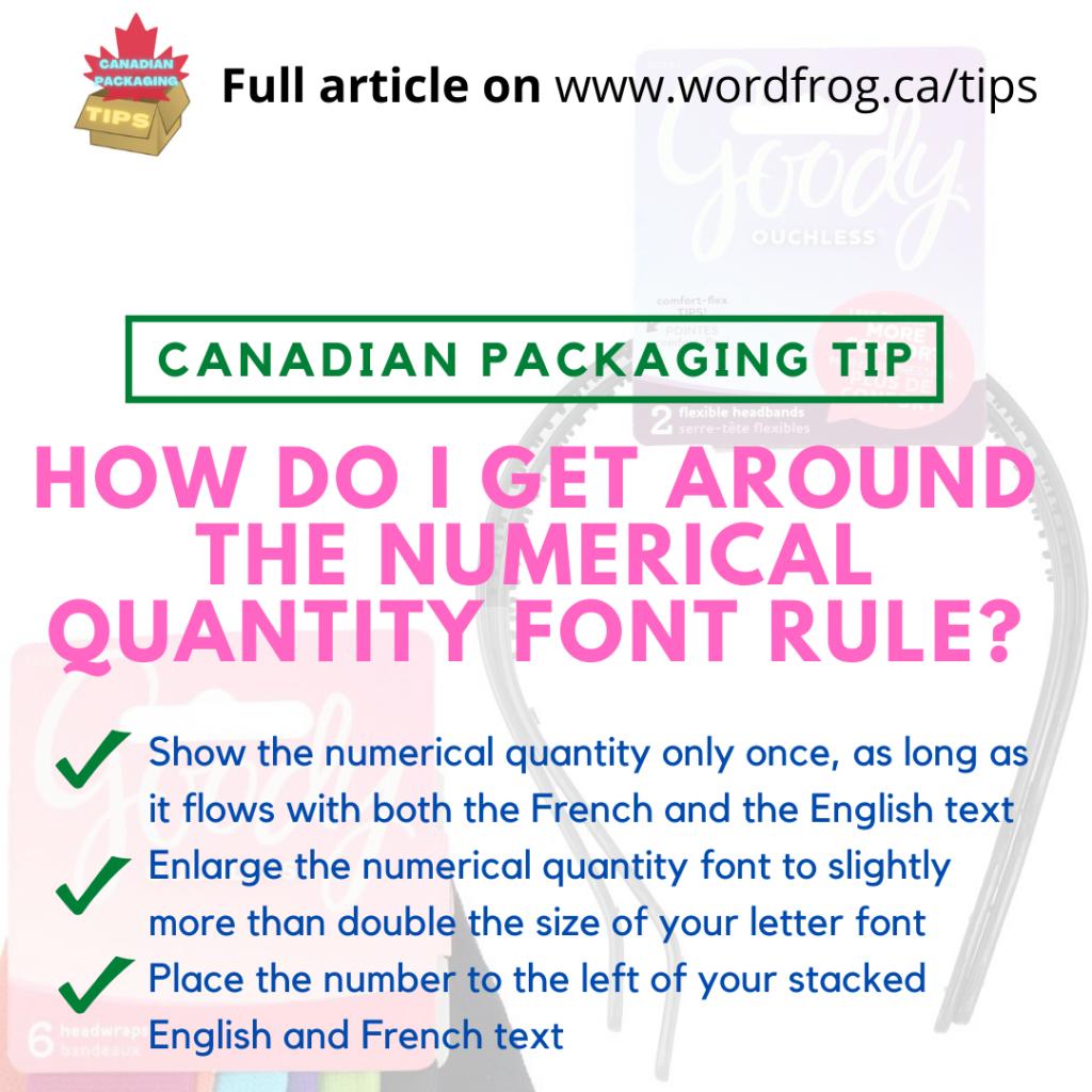 Numerical Quantity Font Rule